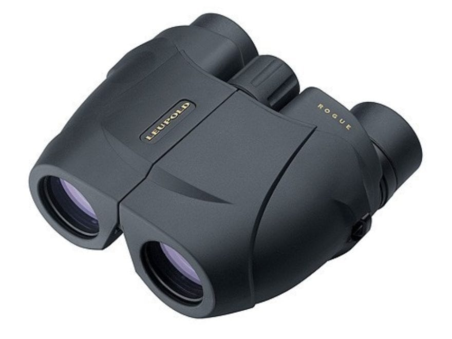 Leupold BX-1 Rogue Compact Binocular 25mm Porro Prism Armored Black