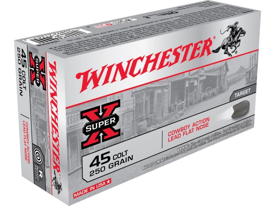 Winchester USA Cowboy Ammunition 45 Colt (Long Colt) 250 Grain Lead Flat Nose