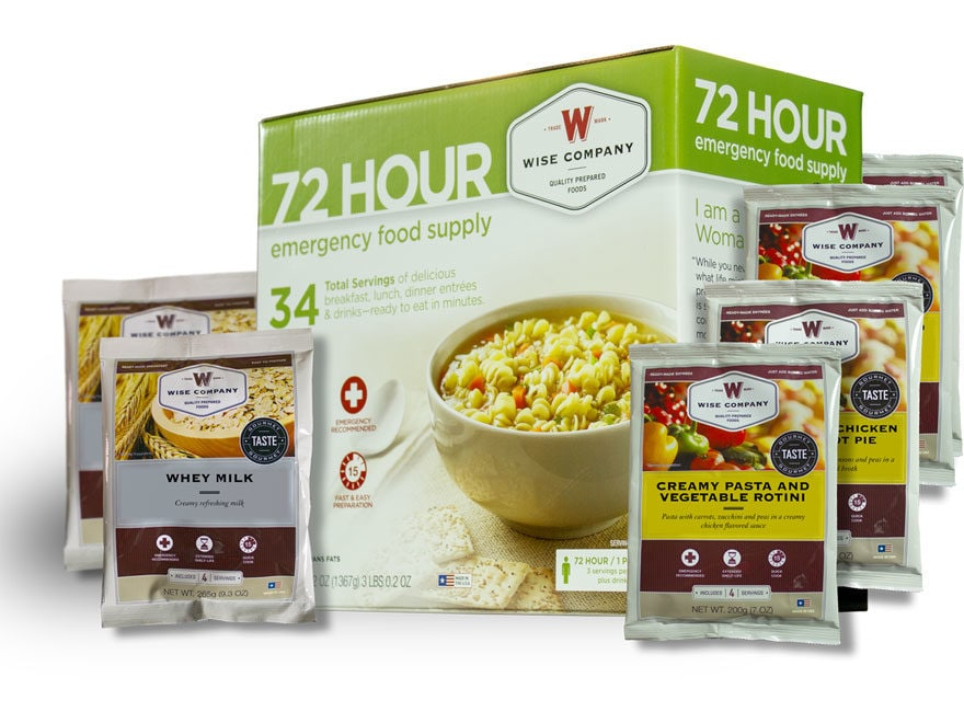 Wise Company 72 Hour Emergency Food Supply Freeze Dried Food Kit