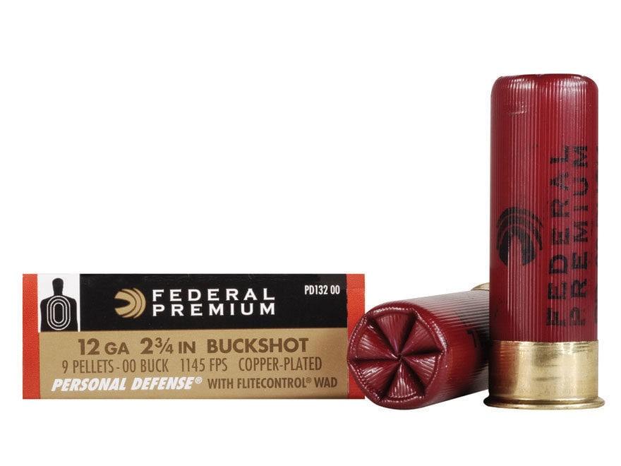 "Federal Premium Personal Defense Ammunition 12 Gauge 2-3/4"" Reduced Recoil"