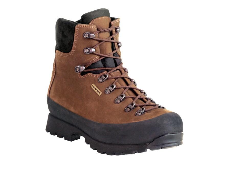 "Kenetrek Hardscrabble LT Hiker 7"" Waterproof Hiking Boots Leather and Nylon Brown Men's"