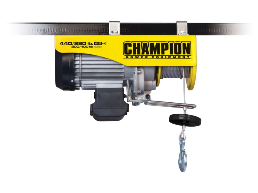 Champion 880 lb Electric Utility Hoist with 39.4' Galvanized Cable