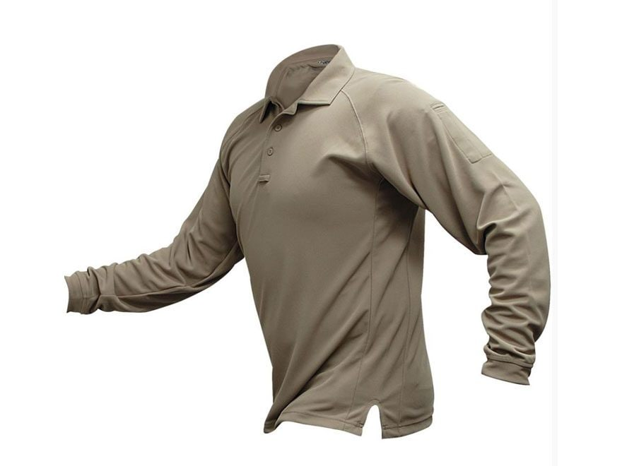 Vertx Men's Coldblack Performance Polo Long Sleeve Polyester