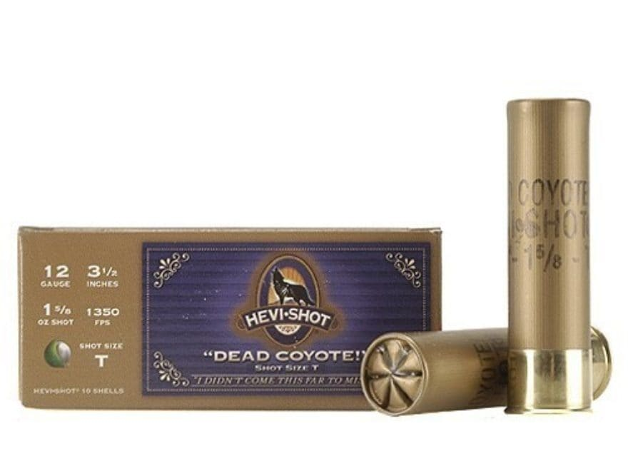 99999a2e7 Hevi-Shot Dead Coyote Ammo 12 Ga 3-1/2 1-5/8oz T Hevi-Shot Box of 10