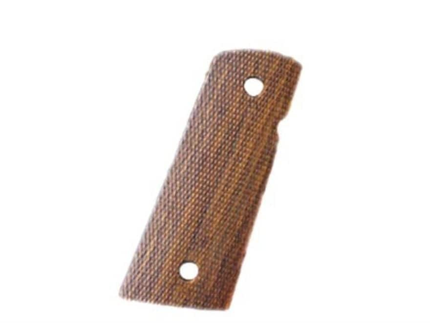 Hogue Grips 1911 Officer with Extended Magazine Well Checkered Cocobolo