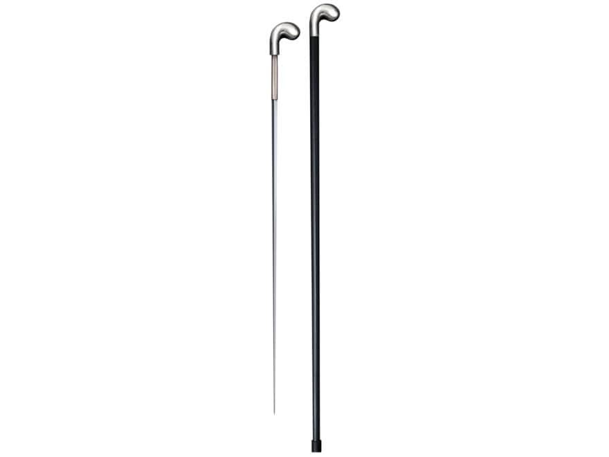 "Cold Steel Pistol Grip Sword Cane 25.75"" 1055 Carbon Steel Blade Aluminum Shaft Black"