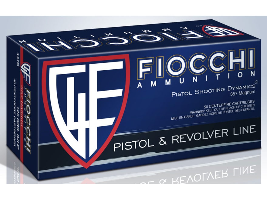 Fiocchi Shooting Dynamics Ammunition 357 Magnum 125 Grain Jacketed Hollow Point Box of 50