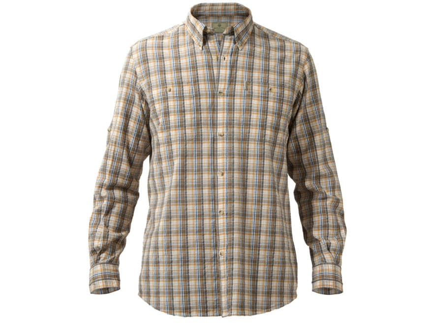 Beretta Men s Seersucker Travel Shirt Long Sleeve Cotton Orange Plaid  Large. Loading image... X. Enlarge Zoom in f223a45d3
