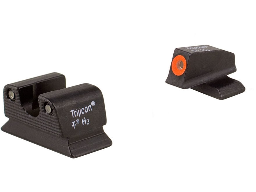 Trijicon HD Night Sight Set Beretta PX4 Storm Steel Matte 3-Dot Tritium Green with Fron...