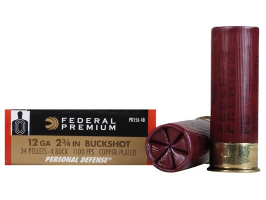 "Federal Premium Personal Defense Ammunition 12 Gauge 2-3/4"" Reduced Recoil"