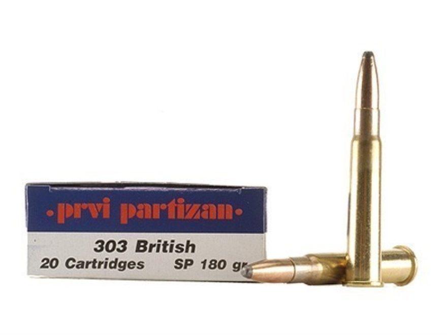 Prvi Partizan Ammunition 303 British 180 Grain Soft Point Box of 20
