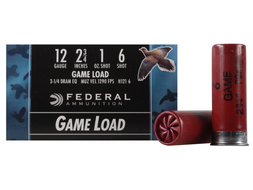 "Federal Game-Shok Game Load Ammunition 12 Gauge 2-3/4"" 1 oz"