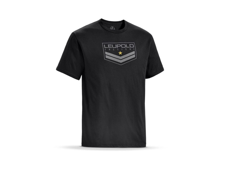 Leupold Men's Tactical Badge Logo T-Shirt Short Sleeve Cotton/ Polyester Blend Black
