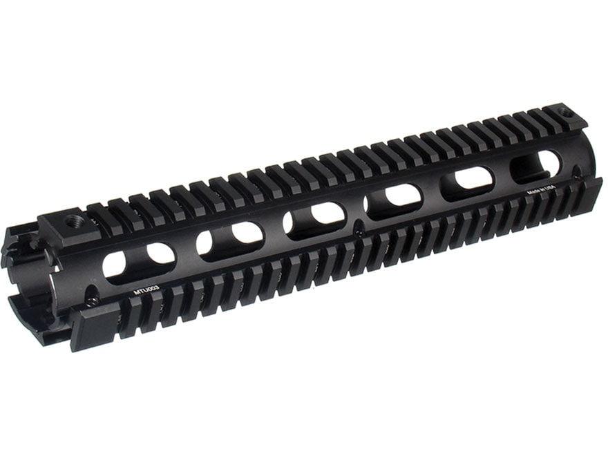 UTG Pro 2-Piece Handguard Quad Rail AR-15 Rifle Length Matte with Black Rail Guards