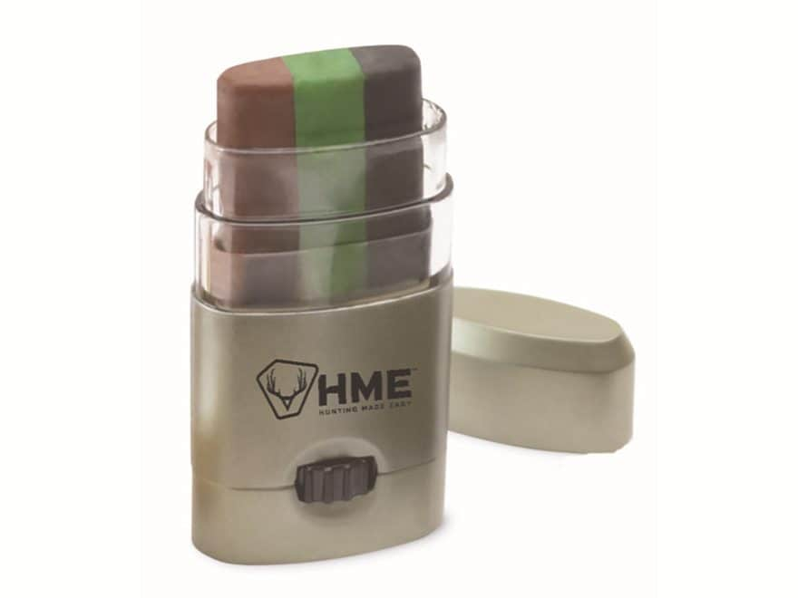 HME 3 Color Camo Face Paint Mess Free Application Stick