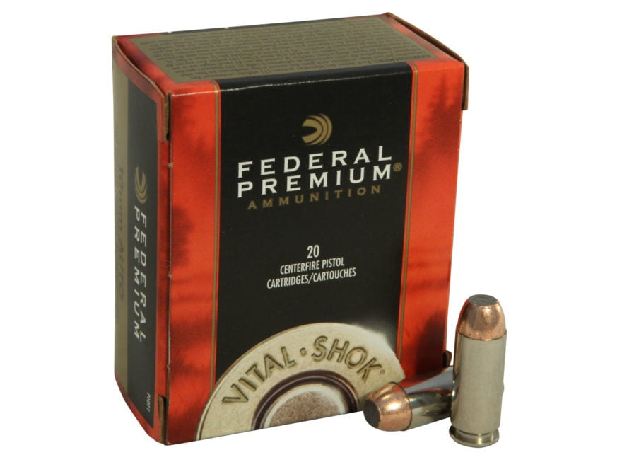 Federal Premium Vital-Shok Ammunition 10mm Auto 180 Grain Trophy Bonded Jacketed Soft P...