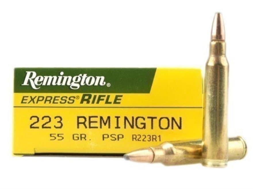 Remington Express Ammunition 223 Remington 55 Grain Pointed Soft Point Box of 20