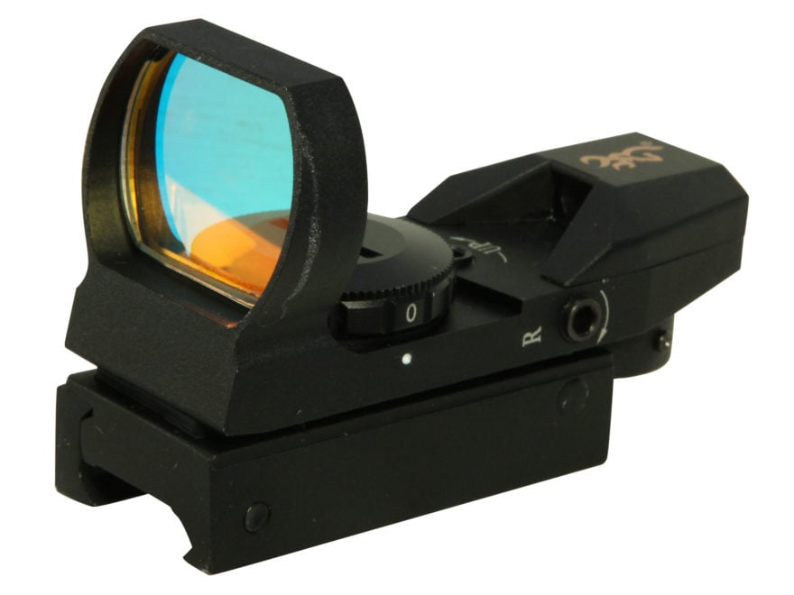Browning Buckmark Red Dot Sight 4-Pattern Reticle (Circle-Dot-Cross, 3 MOA Dot, Cross-D...