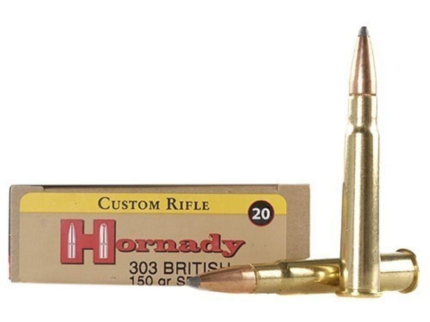 Hornady Custom Ammunition 303 British 150 Grain InterLock Spire Point Box of 20