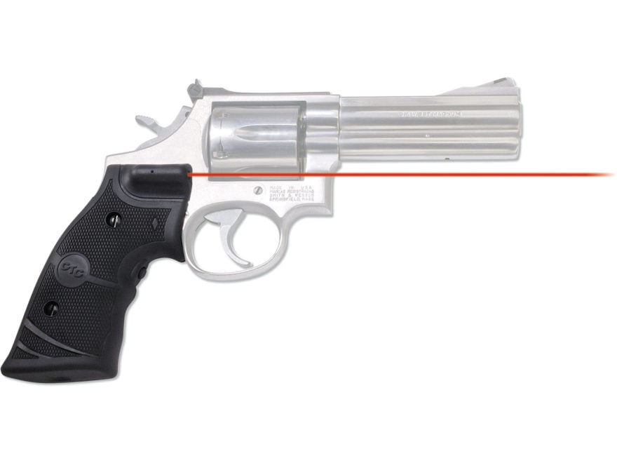 Crimson Trace Lasergrips S&W N-Frame Round Butt Overmolded Rubber Black