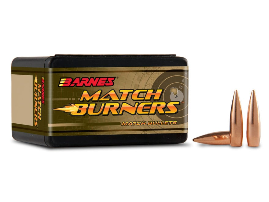 Barnes Match Burner Bullets 22 Caliber (224 Diameter) 69 Grain Open Tip Match Boat Tail...