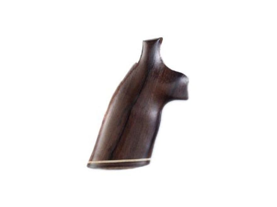 Hogue Fancy Hardwood Grips with Accent Stripe S&W K, L-Frame Square Butt
