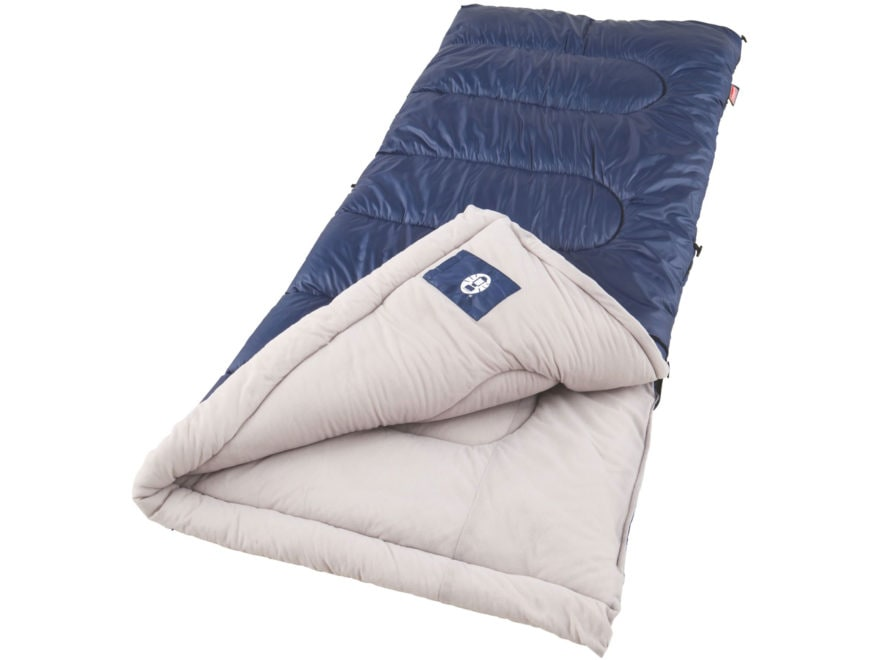 Coleman Brazos 20-40 Degree Sleeping Bag Polyester Blue