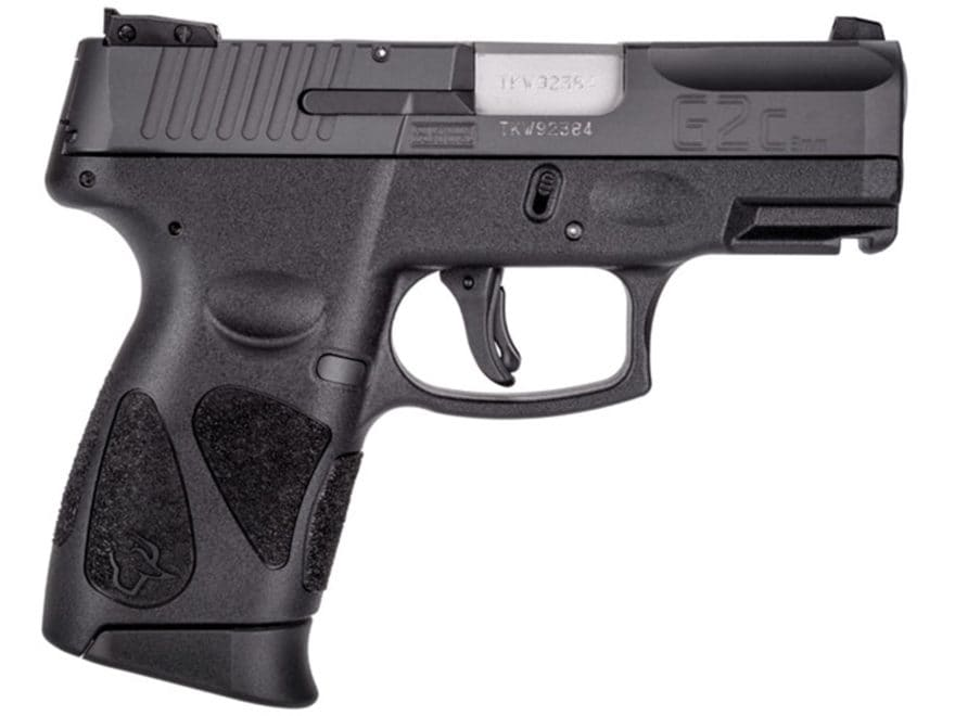 """Taurus G2C Pistol 9mm Luger 3.2"""" Barrel 12-Round Black Rubber"""