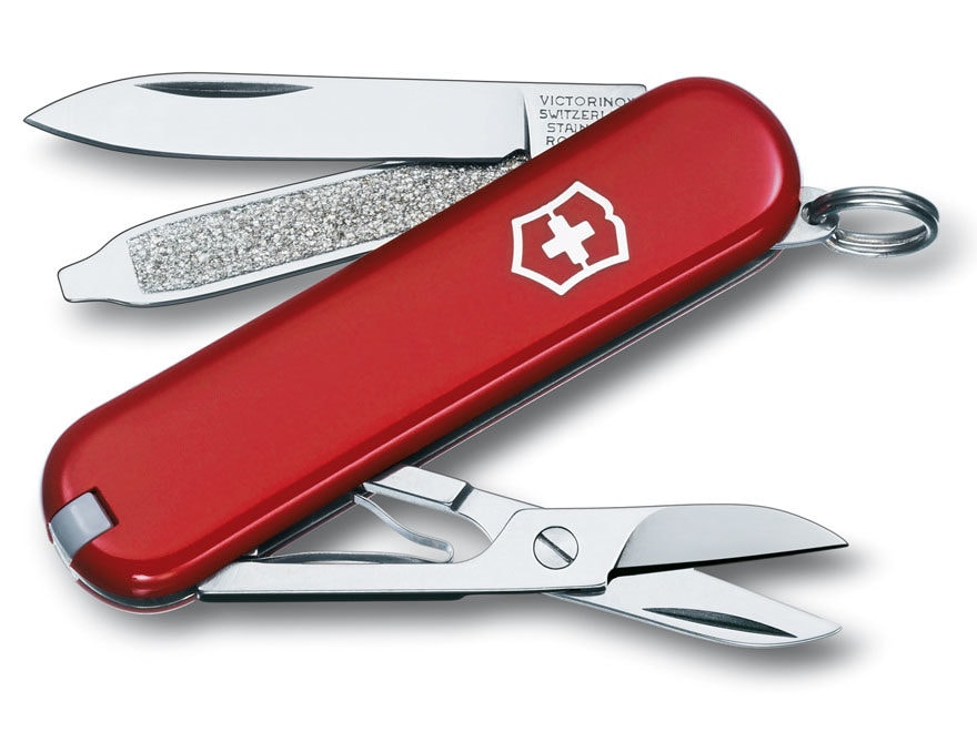 Victorinox Swiss Army Classic SD Folding Pocket Knife 7 Function Stainless Steel Blade ...