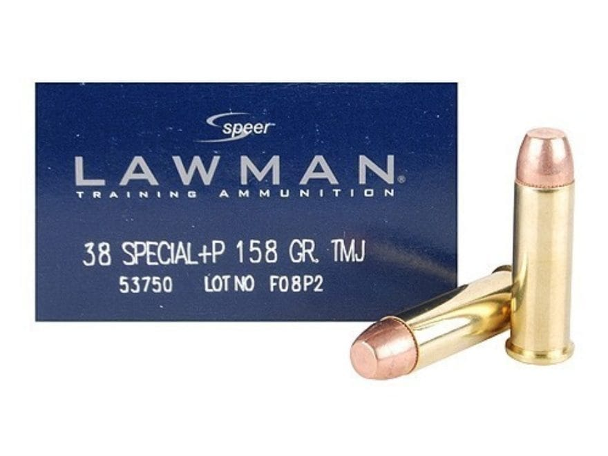 Speer Lawman Ammunition 38 Special +P 158 Grain Total Metal Jacket Box of 50