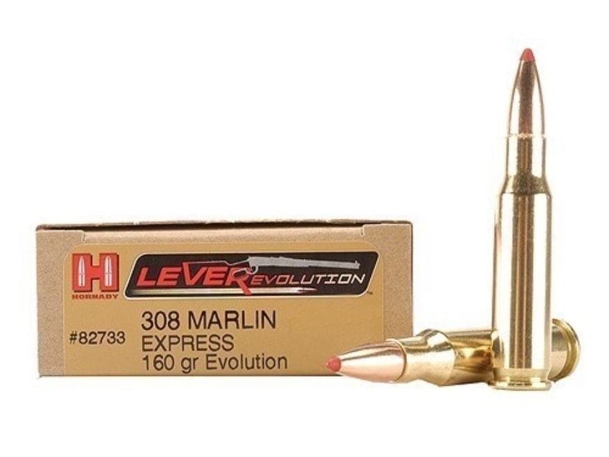 Hornady LEVERevolution Ammunition 308 Marlin Express 160 Grain Flex Tip eXpanding Box o...