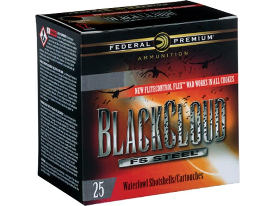 "Federal Premium Black Cloud Ammunition 12 Gauge 3"" 1-1/4 oz #1 Non-Toxic FlightStopper ..."