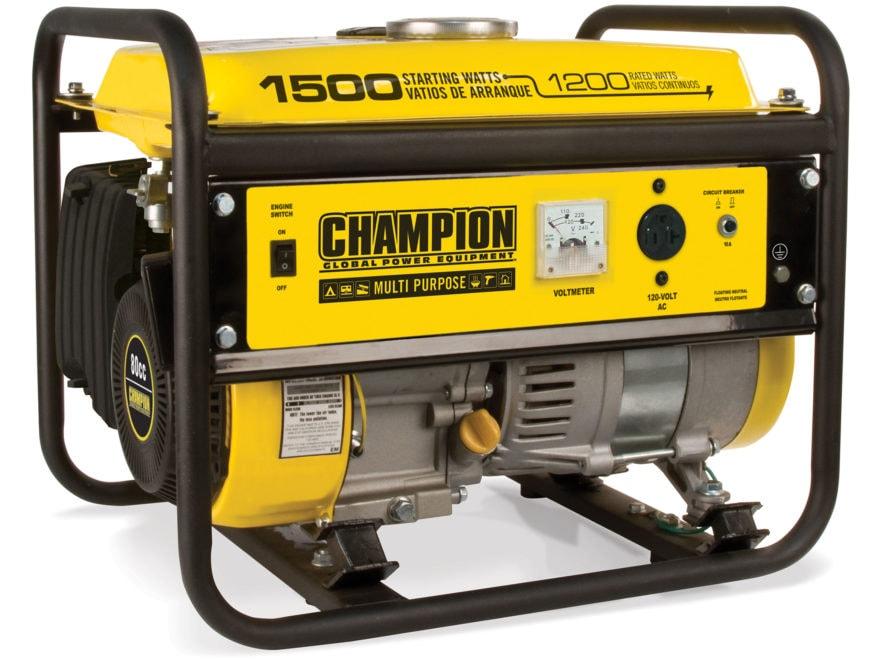 Champion 1200/1500 Watt Gas Powered Generator