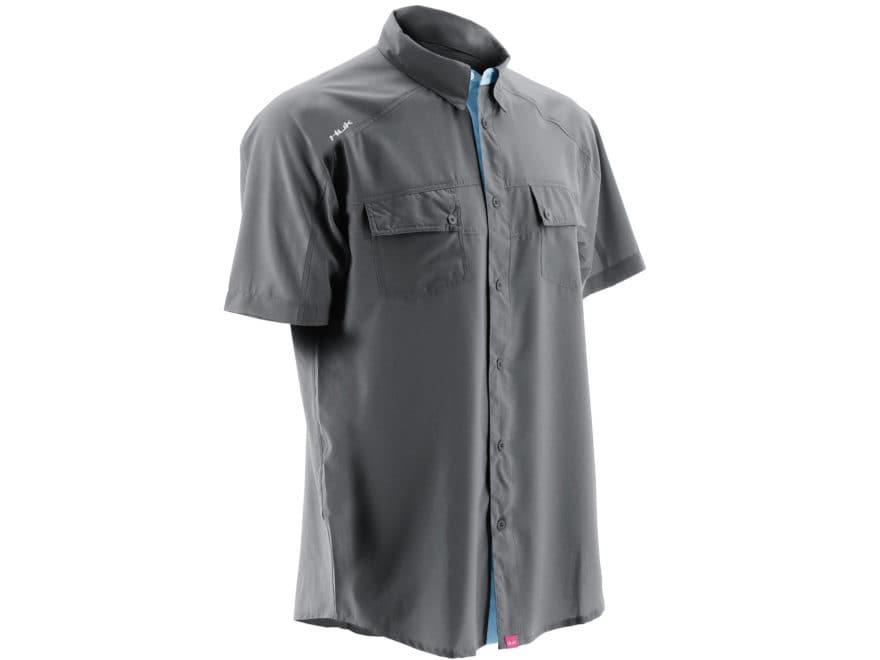 Huk Men's NXTLVL Button-Up Shirt Short Sleeve Polyester