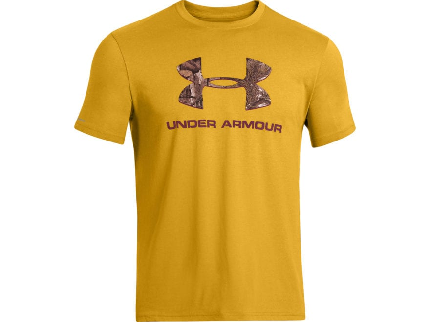 773cec602 Under Armour Men's Camo Fill Logo T-Shirt Short Sleeve Cotton and Polyester  Blend. Alternate Image; Alternate Image