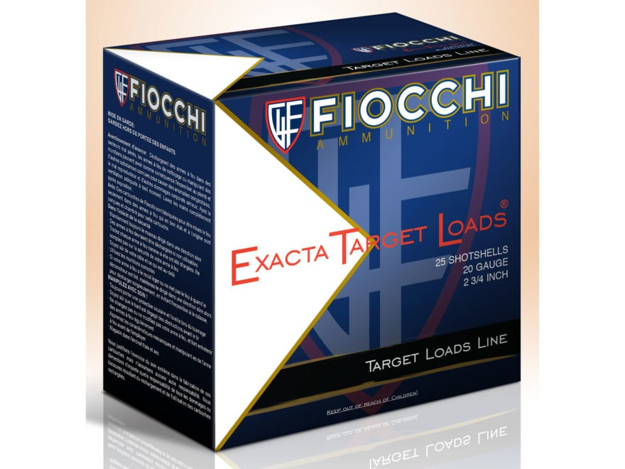 "Fiocchi Low Recoil Ammunition 20 Gauge 2-3/4"" 7/8 oz #7 Non-Toxic Steel Shot Box of 25"