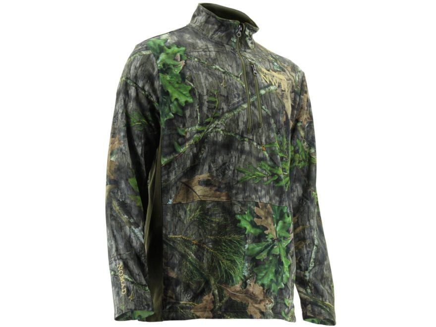 Nomad Men's NWTF 1/4 Zip Shirt Long Sleeve Polyester