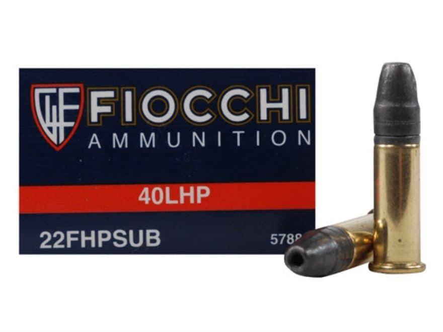 Fiocchi Shooting Dynamics Ammunition 22 Long Rifle Subsonic 40 Grain Hollow Point