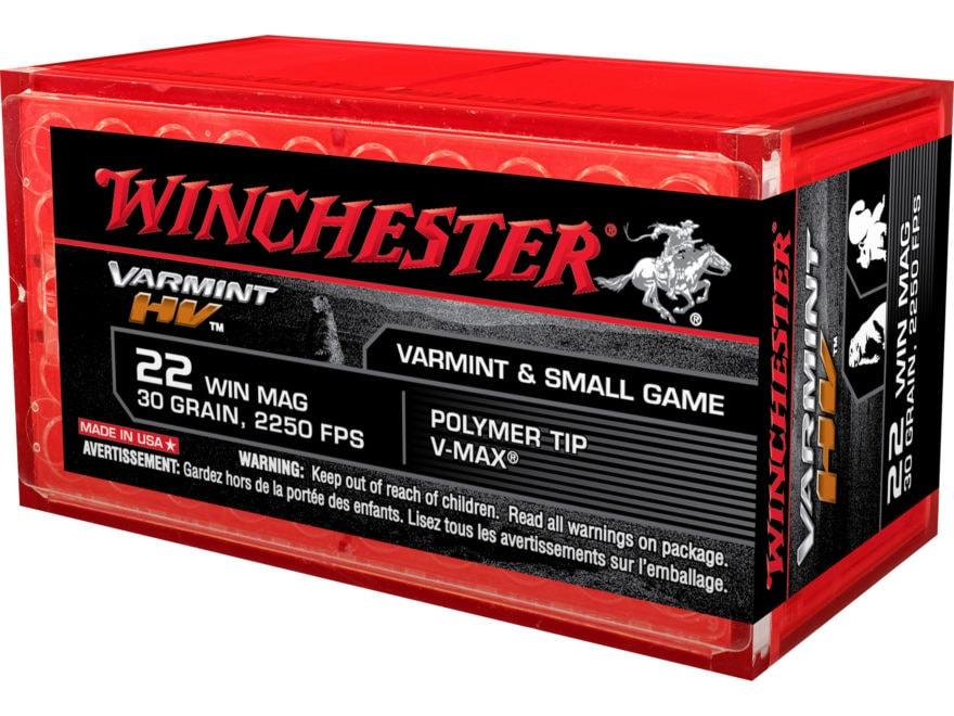 Winchester Varmint High Velocity Ammunition 22 Winchester Magnum Rimfire (WMR) 30 Grain...