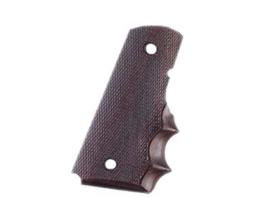Hogue Fancy Hardwood Grips with Finger Grooves 1911 Officer Checkered
