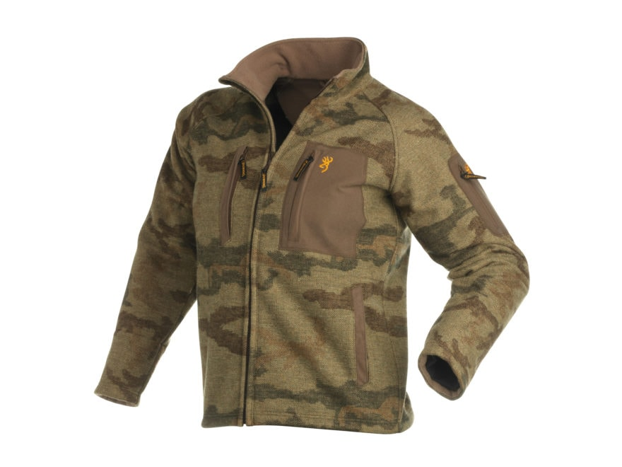 88345a1ff710e Browning Men's FCW Mountain Windkill Jacket Wool All-Terrain Brown Camo