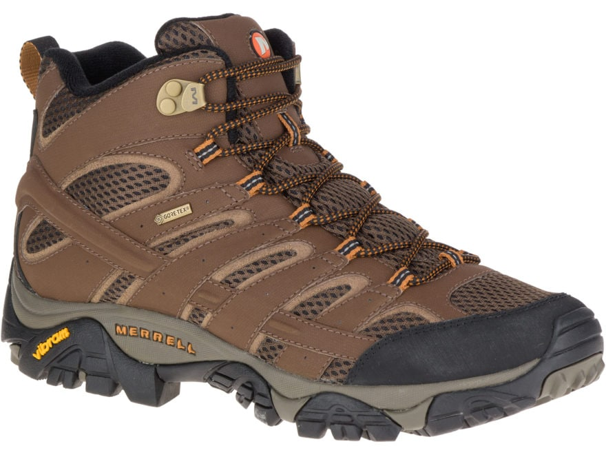 "Merrell Moab 2 Mid Gore-Tex 5"" Waterproof Hiking Boots Leather/Nylon Men's"