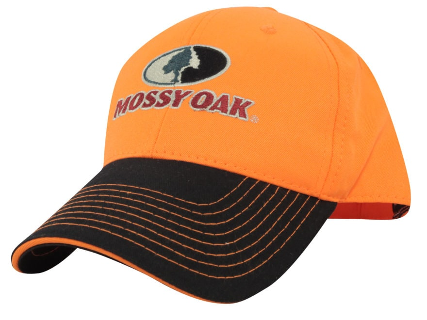 Mossy Oak Logo Cap Cotton Blaze Orange and Black. Alternate Image 77eb1d92491