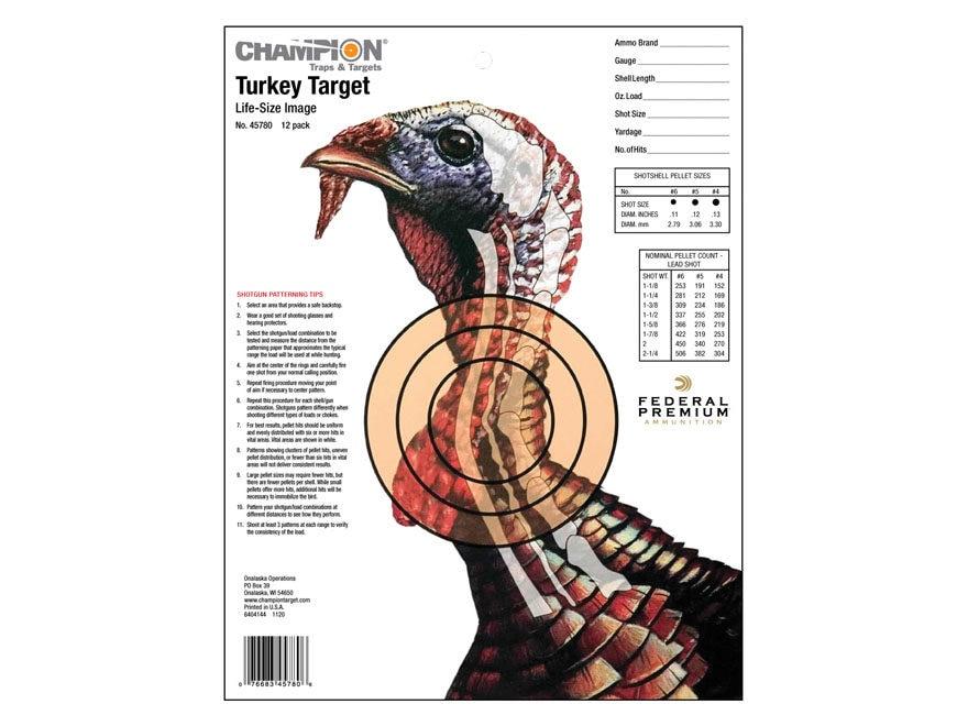 Champion Xray Turkey Targets 11 X 14 Pack Of 12 Mpn 45780