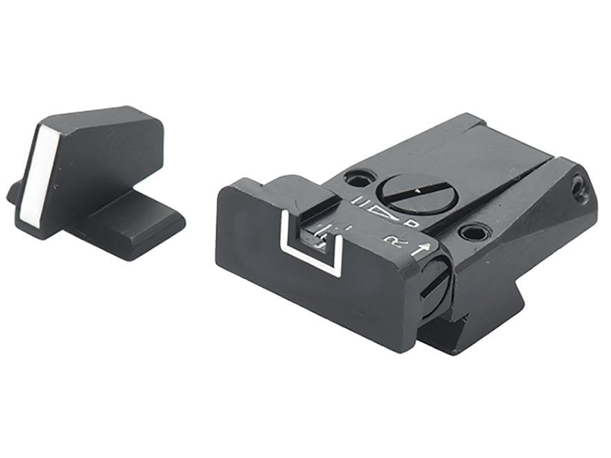 LPA SPR Sight Set Browning Hi-Power Mark III Steel White Outline