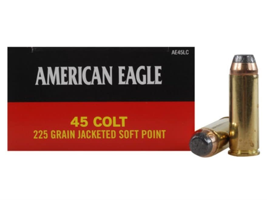 Federal American Eagle Ammunition 45 Colt (Long Colt) 225 Grain Jacketed Soft Point
