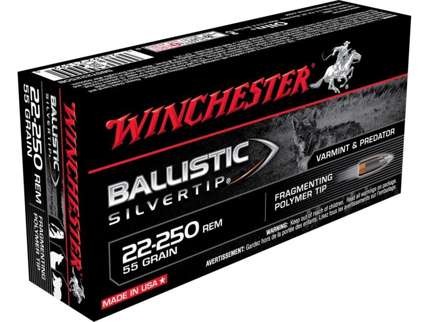 Winchester Ballistic Silvertip Varmint Ammunition 22-250 Remington 55 Grain Fragmenting...