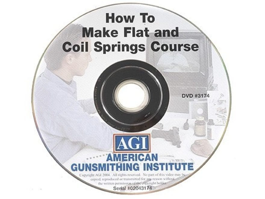 "American Gunsmithing Institute (AGI) Video ""How to Make Flat and Coil Springs"" DVD"