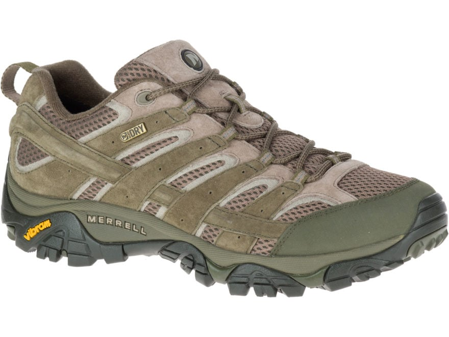 """Merrell Moab 2 Low 4"""" Waterproof Hiking Shoes Leather/Synthetic Dusty Olive Men's 11.5 D"""