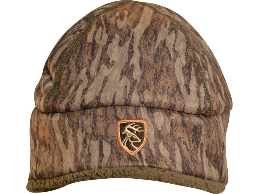 Drake Non-Typical Sherpa Silencer Beanie Polyester Mossy Oak Bottomland Camo